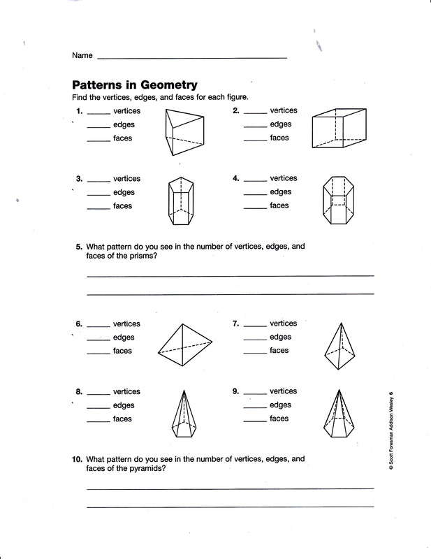 Printables Faces Edges And Vertices Worksheet faces edges and vertices worksheet abitlikethis math solids project due tuesday nov 13